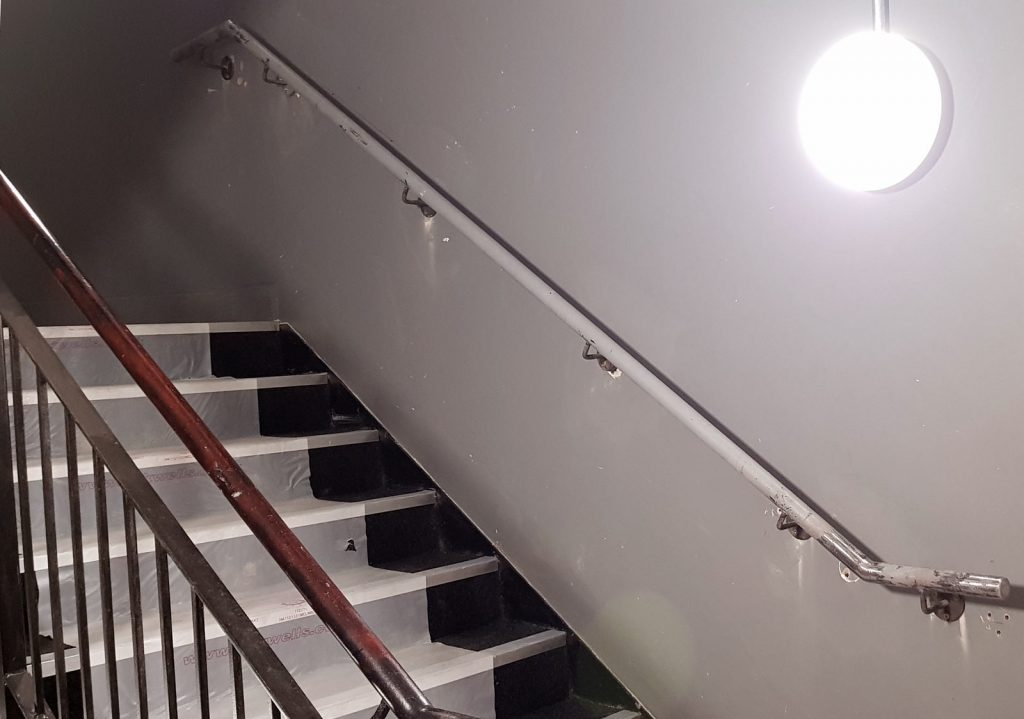 London Square Project - Steel Stair Rails